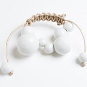 Costellazione braccialetto bianco ceramica