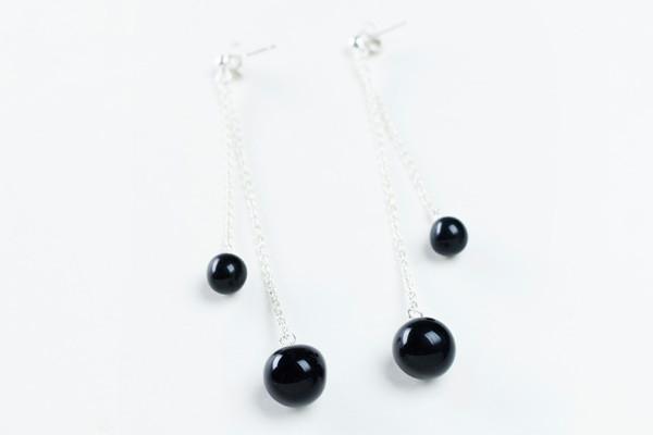 Costellazione earrings orecchini ceramica nera