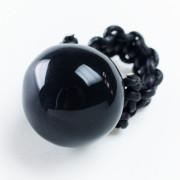 Costellazione ring anello ceramica nera