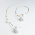 Costellino collana bianca ceramica