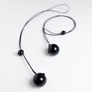 Costellino collana nera
