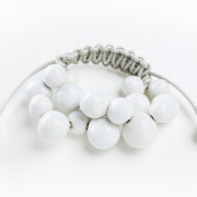 Dna bracelet braccialetto ceramica bianca