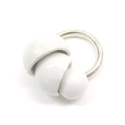 Hermit anello ceramica bianca