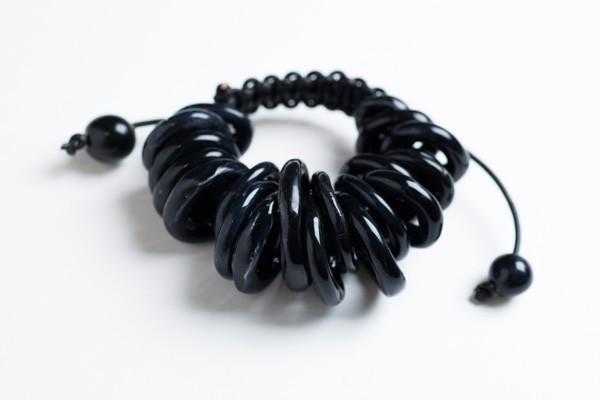 Isolario bracciale ceramica nera