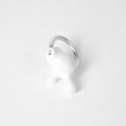 Molecola anello ceramica bianca