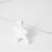 Molecola collana ceramica bianca
