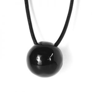 Pantou collana ceramica nera